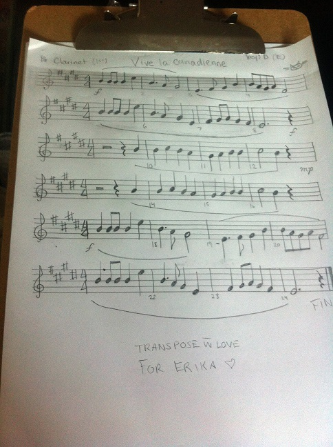 march learn music transposed