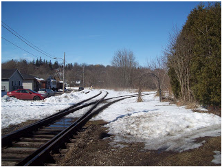 by jay wilson - train tracks in guelph