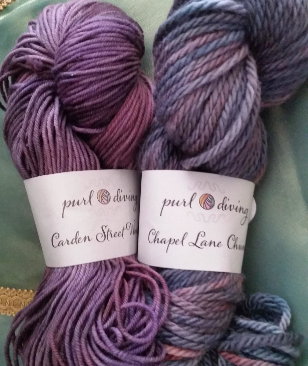 carden street worsted and chapel lane chunky by Purl Diving