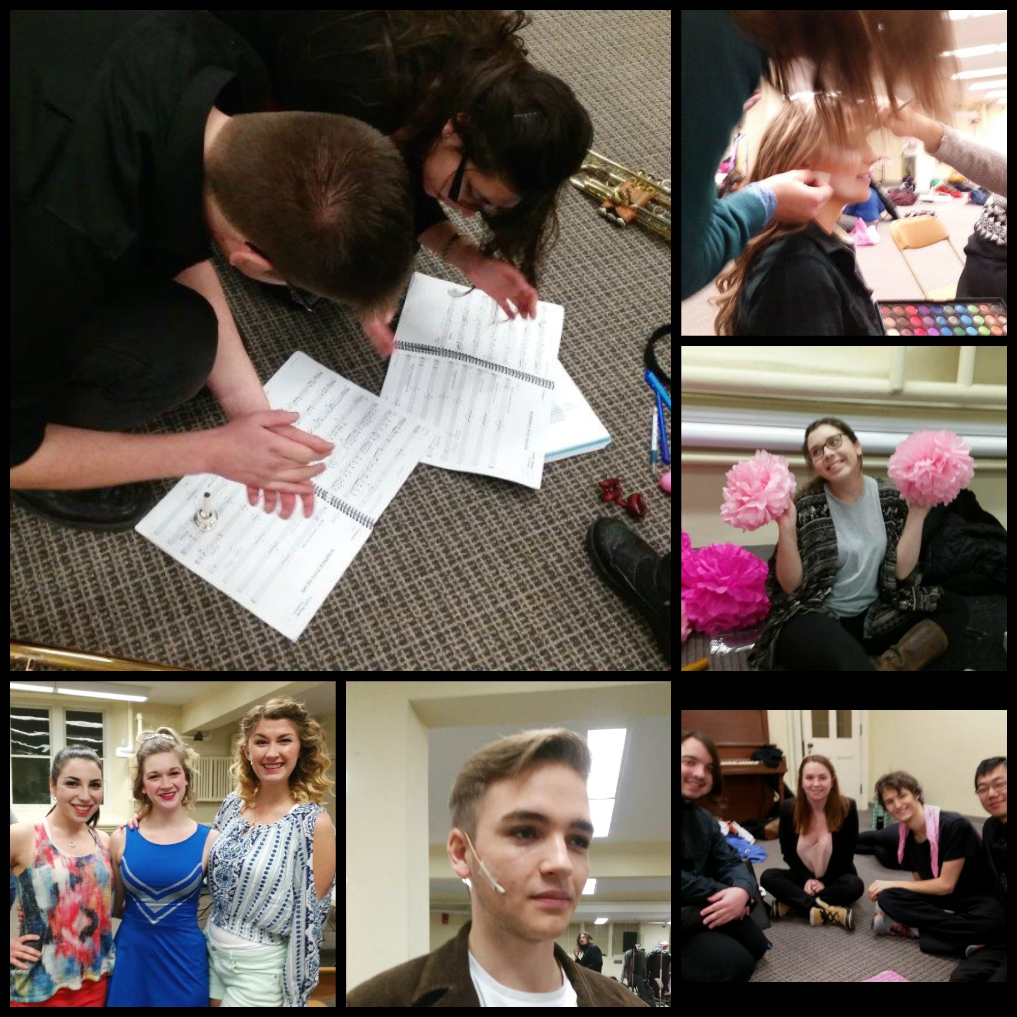 Behind the Curtain with CCP collage 2016 - legally blonde the musical