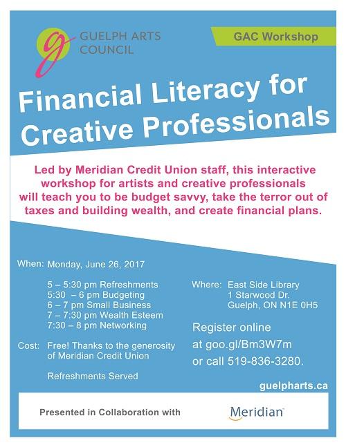 GAC Financial Literacy Workshop Poster Small