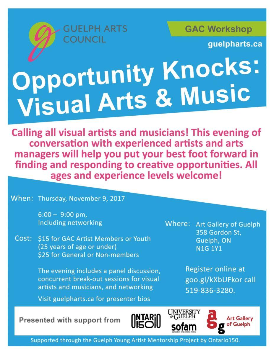 GAC Opportunity Knocks Workshop Poster
