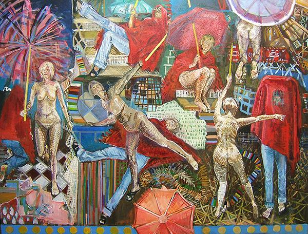 10 Grazyna Adamska Jarecka Red Migration acrylic on canvas 30x 40 inches