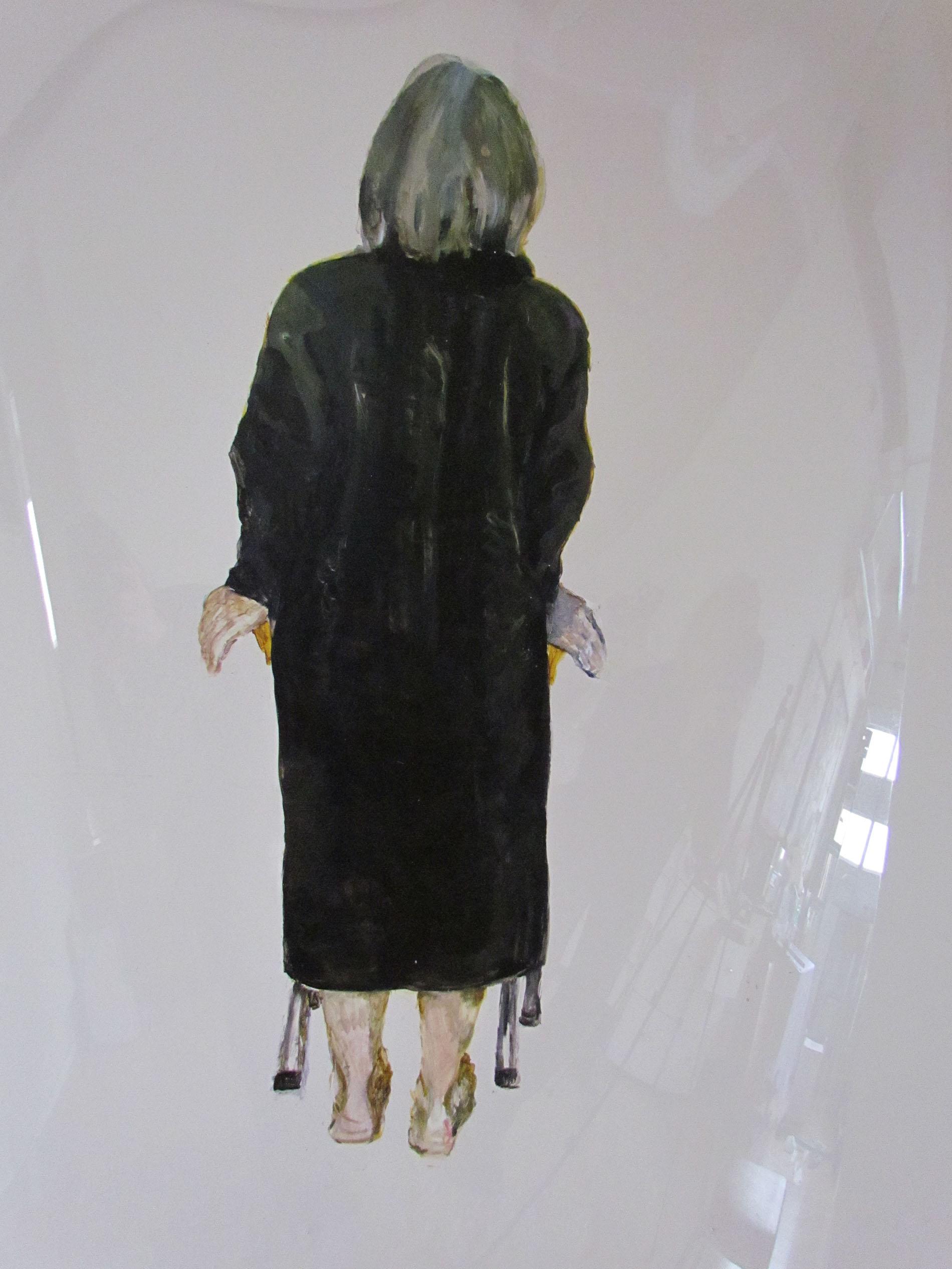 6 Grazyna Adamska Poised and Unbalanced 1 acrylic on lexan 48 x 30 inches