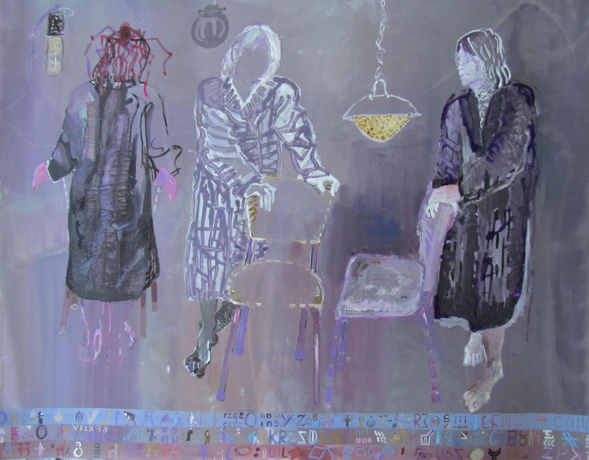 8 Grazyna Adamska See through Study.acrylic on lexan 42 x 48 inches