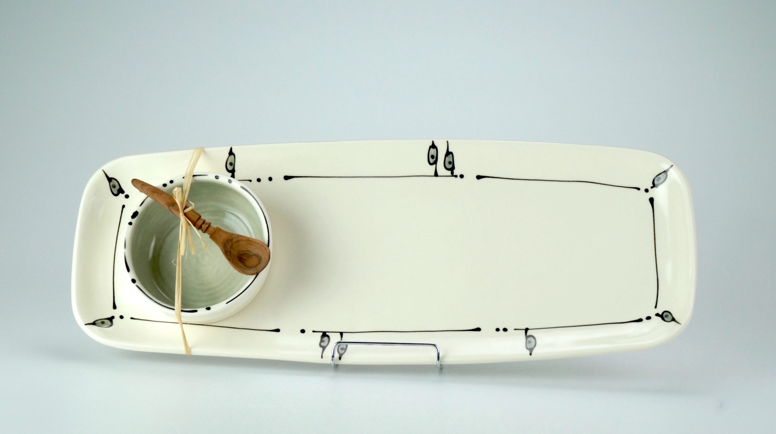 Long Rounded Rectangle Tray