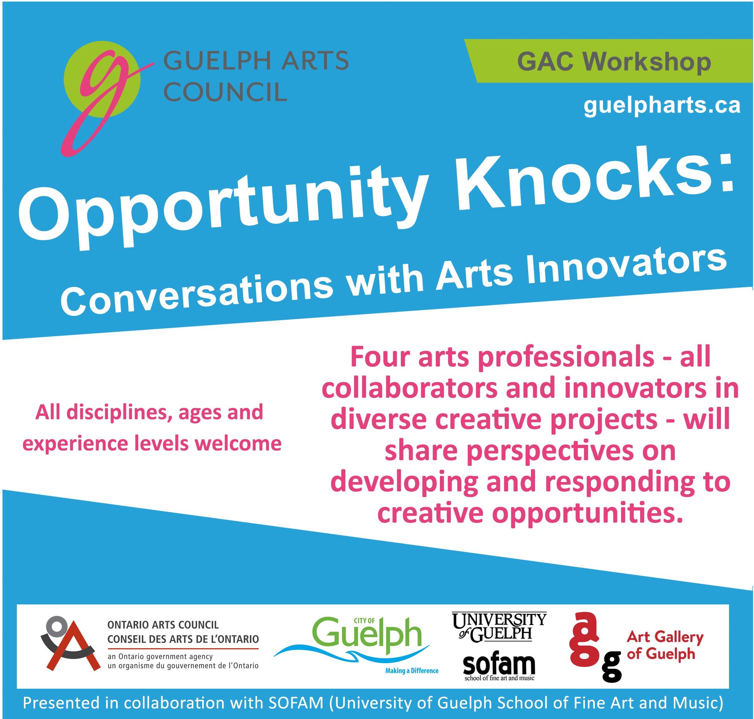 GAC Opportunity Knocks Workshop short graphic Fall 2018