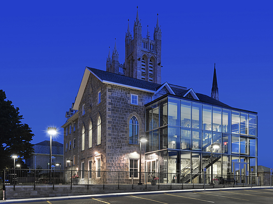 Guelph Museum at night