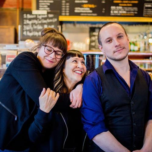Alanna Dakin Bella Krieger Aron Murch in Red Brick Cafe Photo By Britney Townsend Photography