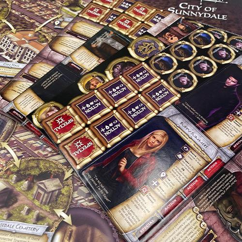 Buffy The Vampire Slayer The Board Game by Lynnvander Studios Design By Aron Murch and Josh Derksen Photo by Aron Murch