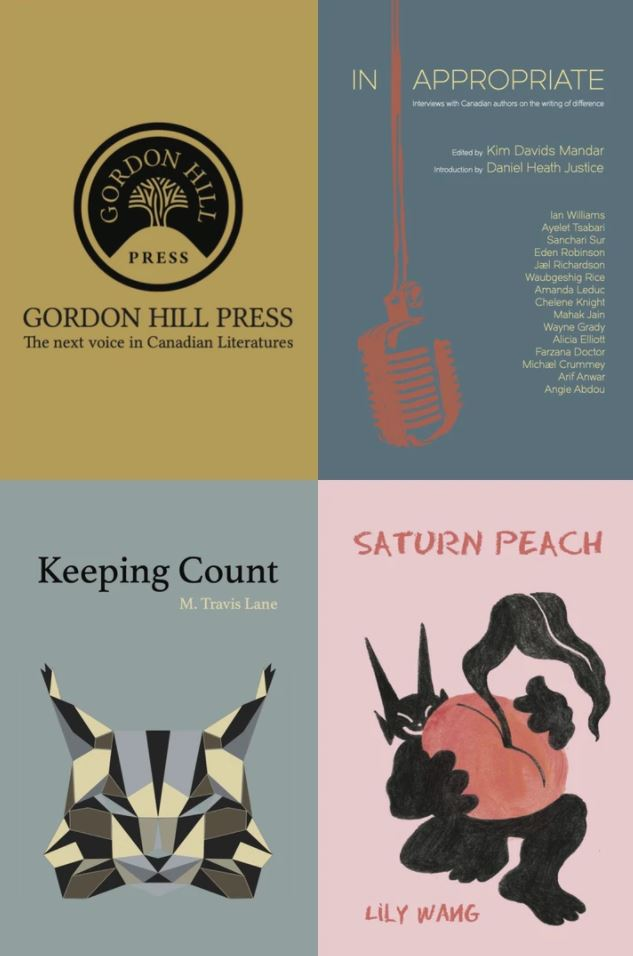 Gordon Hill logo and 3 covers