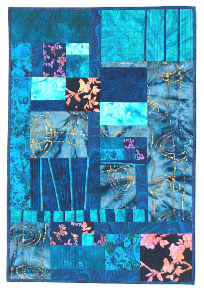 Abstract quilted wallhanging