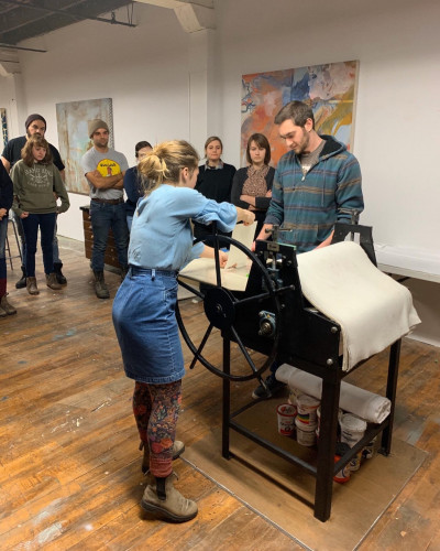 operating a press